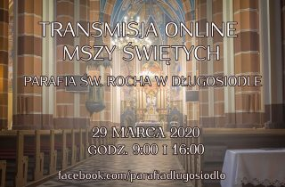 Transmisja online Mszy Świętych – 29.03.2020