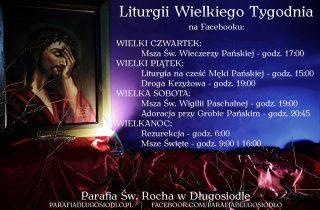 Porządek transmisji Liturgii Wielkiego Tygodnia naFacebooku